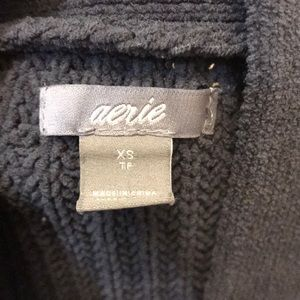 aerie Sweaters - AERIE EASY CHENILLE CARDIGAN SMOKED GRAY
